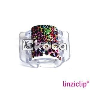 Иновативна щипка за коса Linziclip - Цветна джунгла - средна - 3,5см x 5,5см x 3,5см
