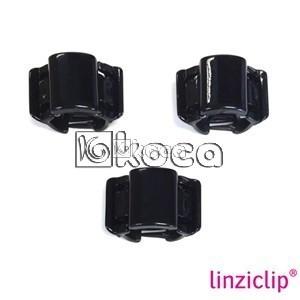 Иновативна щипка за коса Linziclip - Черна перла - малка - 1,75см x 2,75см x 1,75см - 3бр.