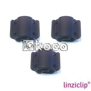 Иновативна щипка за коса Linziclip - Черно кадифе - малка - 1,75см x 2,75см x 1,75см - 3бр.