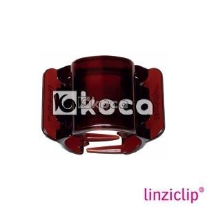 Иновативна щипка за коса Linziclip - Карамел - средна - 3,5см x 5,5см x 3,5см