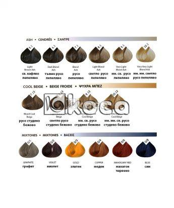 Beauty Color Lorvenn Paris - професионална боя за коса [70мл] - пепеляви, студено бежови тонове, коректори