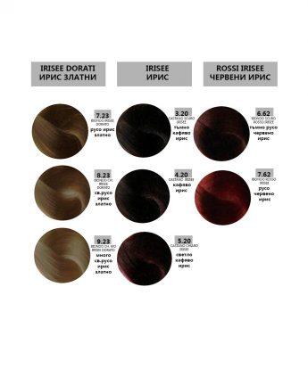 Bes HI-FI - професионална боя за коса  [100 мл] - ирис, ирис златни, червени ирис тонове
