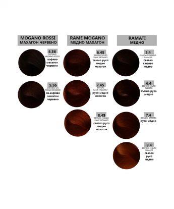 Bes HI-FI - професионална боя за коса  [100 мл] - медни, медно махагонови, махагон  червени  тонове