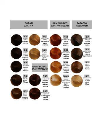 Bes HI-FI - професионална боя за коса  [100 мл] - златни, златно медни, табакови тонове