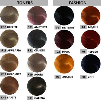 Bes HI-FI - професионална боя за коса  [100 мл] - тонери, fashion