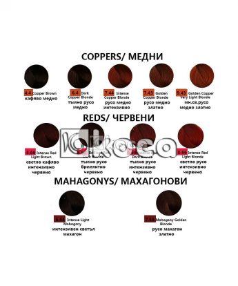 REF Hair Colouring System - Професионална боя за коса [100 мл] - медни, червени, махагонови