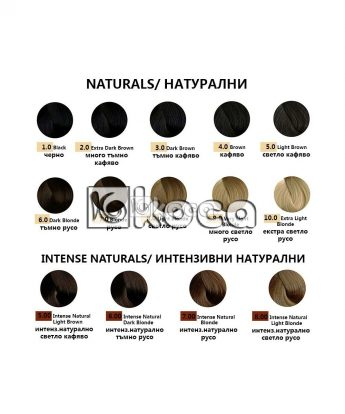 REF Hair Colouring System - Професионална боя за коса [100 мл] - натурални тонове