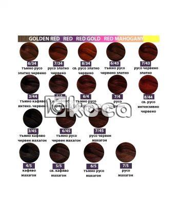 SensiDO професионална боя за коса [ 60 мл] - златисто червени, червено златни, махагонови, червени тонове