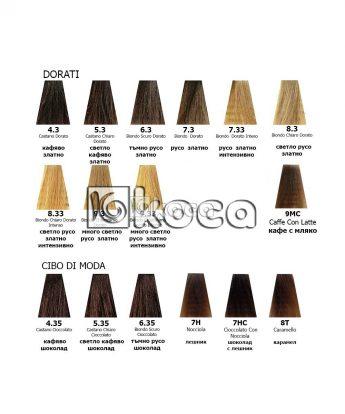 Singularity - Imperity - Професионална боя за коса с Арган и перли [100ml]- златни, шоколадови тонове