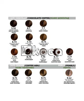 Color Pure - Професионална боя за коса без амоняк [50ml] - кафе, шоколадови тонове