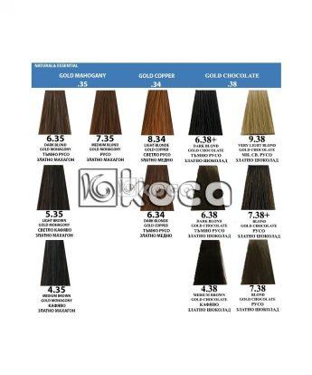 Indola Profession new - професионална боя за коса [60 мл] - златно махагонови /медни/ шоколадови тонове