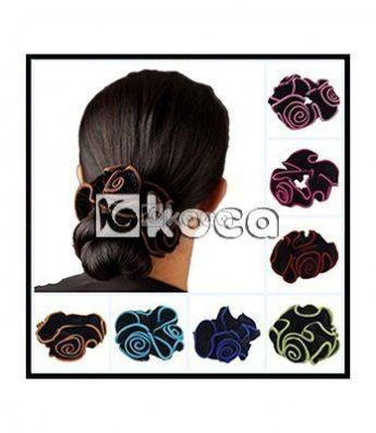 Ластик за коса - с рози
